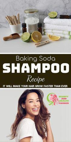 Baking Soda Shampoo Recipe - Grow Your Hair Faster!, #Baking #DIYHairCarebakingsoda #Faster #Grow #hair #Recipe #Shampoo #Soda #AppleCiderVinegarAndBakingSodaShampoo #BakingSodaShampooNaturalHair #BakingSodaShampooAdvice #WhatIsBakingSodaShampoo Baking Soda Dry Shampoo, Baking Soda For Skin, Baking Soda For Dandruff, Baking Soda And Honey, Baking Soda Health, Baking Soda Baking Powder, Apple Cider Vinegar Shampoo, Honey Shampoo, Natural Hair Shampoo