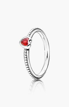 PANDORA 'One Love' Heart Stone Ring available at #Nordstrom
