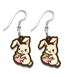 Designer Clothes, Shoes & Bags for Women Tasty Peach Studios, Berry, Kawaii Fashion, Bunny Rabbit, Snoopy, My Style, Kawaii Things, Polyvore, Earrings