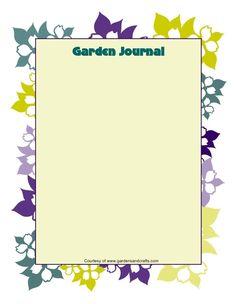 Garden Journal Templates