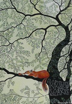 Beautiful nature illustration, everything in nature revolves around the balance, f . - Herz - Beautiful nature illustration everything in nature revolves around the balance f - Art And Illustration, Illustration Wallpaper, Fuchs Illustration, Art Inspo, Kunst Inspo, Inspiration Art, Art Fox, Sam Cannon, Art Design