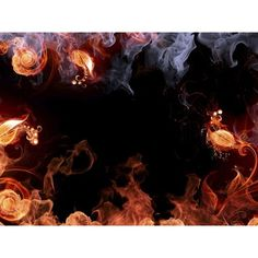 Fire and Smoke on Dark Surface ❤ liked on Polyvore featuring fire