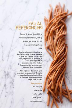 Pici (fatti in casa) con il peperoncino - COOK AND THE CITY