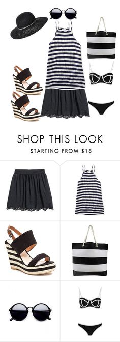 """""""On a budget...vacation wear."""" by stelladallas6369 ❤ liked on Polyvore featuring Aéropostale, French Blu, South Beach and Billabong"""