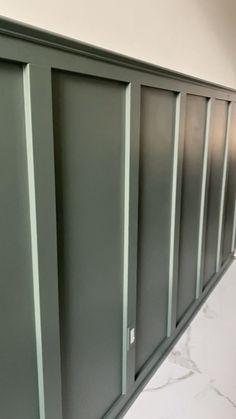 Home Room Design, Interior Design Living Room, Living Room Designs, House Design, Narrow Hallway Decorating, Wall Trim, Board And Batten, Wall Treatments, Diy Bedroom Decor