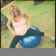 Birth ball CRAZY - A bunch of different ways to use a birthing ball!