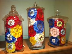 Ribbon Jars - What to do with all your show ribbons - easy winter project!