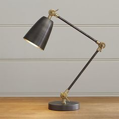 Cole Stainless Steel Desk Lamp | Crate and Barrel