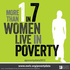 Women in America deserve better. Read more about the U.S. Census Bureau's new poverty figures at www.nwlc.org/povertydata.