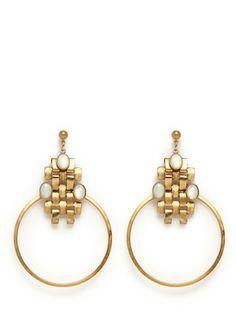 ELA STONE - Nicole chain loop earrings