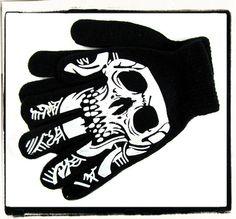 Rękawiczki młodzieżowe, damskie - CZASZKI