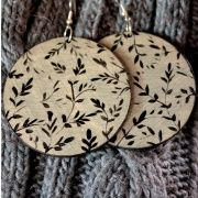 Our hand painted earrings are unique artistic gift. Designs which we paint can be interesting supplement jewellery for demanding women. Dimensions of earrings: their diameter is about 6 cm Gifts For An Artist, Paint Cans, Coin Purse, Hand Painted, Crafty, Christmas Ornaments, Holiday Decor, Unique, Earrings