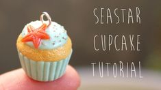 how to: seastar cupcakes Polymer Clay Cupcake, Cute Polymer Clay, Cute Clay, Polymer Clay Miniatures, Polymer Clay Charms, Polymer Clay Jewelry, Diy Fimo, Diy Clay, Clay Crafts