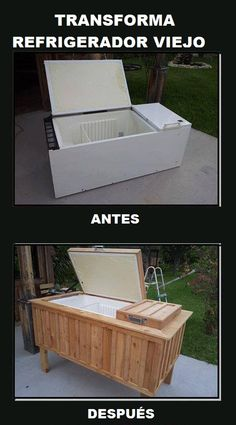 Transforma refrigerador viejo