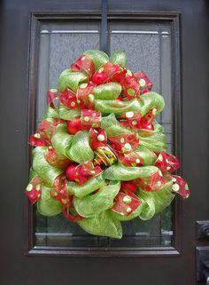 Christmas Tree Wreath Deco Mesh Christmas Wreath by LuxeWreaths, $95.00