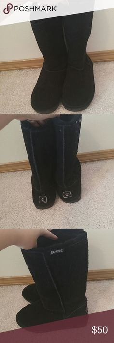 Tall Black Bearpaw Boots ACCEPTING OFFERS (no lowballing) Barely worn and in great condition! Start getting bubdled up for this upcoming fall and winter BearPaw Shoes Winter & Rain Boots