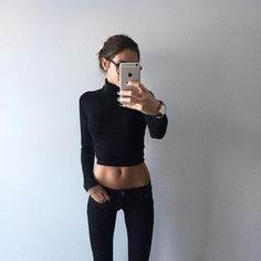 @ elisabeth.rioux looking beaut in her IKRUSH Marwa polo neck jumper & Gaby casual joggers. Find both at www.ikrush.com