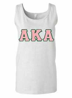 Alpha Kappa Alpha Lettered Tank Top