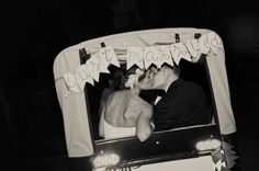 OUR WEDDING: the get-away pedicab