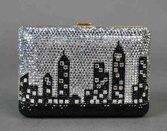 On the Verge of Vintage, 2001..JUDITH LEIBER NEW YORK CITY SKYLINE PURSE.