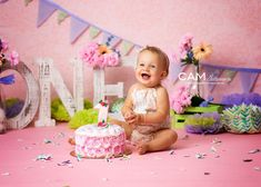 Spring Flowers First Birthday Photo Shoot.   first birthday   cake smash   photo   theme   ideas   messy   one   nj photographer   1st   one   unique   baby   contemporary   vibrant   colorful   fun   pink   purple   girl