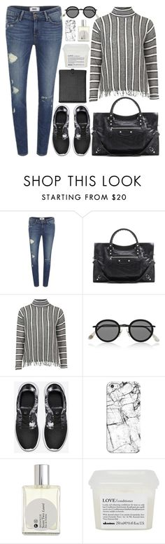 """""""288. City Comfort"""" by ass-sass-in ❤ liked on Polyvore featuring Paige Denim, Balenciaga, Topshop, Acne Studios, NIKE, Casetify, Comme des Garçons, Davines and Bottega Veneta"""