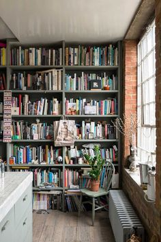 full of finds and not ashamed of it - love it! -- Ilse Crawford's Victorian Warehouse in London | Yellowtrace
