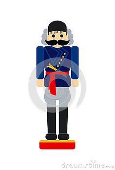 Christmas nutcracker toy with traditional cretan costume