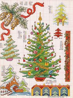 Juletræer - korssting