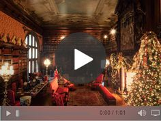 The #Winter Garden in #Biltmore House decorated for Candlelight ...