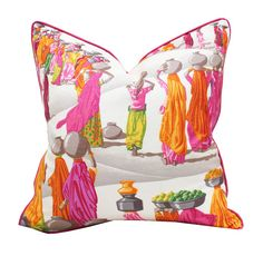 20 Sq Manuel Canovas Sari Linen Pillow Cover by PinkandPiper