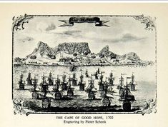 Geni Project: South African Stamouers/Progenitors - Mapping the arrival of VOC ships and passengers to the Cape. Background The VOC fitte Antique Maps, Historical Pictures, African History, Cape Town, Continents, Genealogy, Old Photos, South Africa, Vintage World Maps