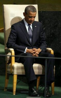 Obama-prayer -> connecting with the ultimate Commander in Chief..