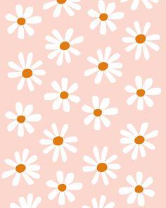 Daisies on Pink | Pattern Illustration