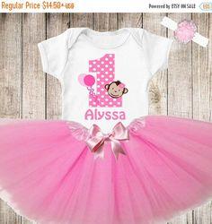 EN venta las niñas cumpleaños mono camisa personalizada Tutu