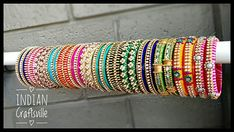Your place to buy and sell all things handmade Silk Thread Bangles Design, Silk Bangles, Thread Jewellery, Blue Orange, Dark Blue, Light Blue, Yellow, Indian Jewelry, Unique Jewelry