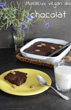 Gâteau Moelleux au Chocolat {très facile} #recette #vegan #végétal @ Clémentine la Mandarine