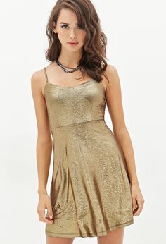 Glitter Lamé Cami Dress | FOREVER21
