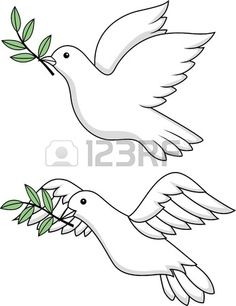 """Buy the royalty-free Stock vector """"Dove of peace"""" online ✓ All rights included ✓ High resolution vector file for print, web & Social Media Bird Line Drawing, Bird Drawings, Animal Drawings, Dove Bird, Peace Dove, Cross Art, Embroidery Monogram, White Doves, Rock Crafts"""