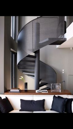 Creative Wooden Staircase Designed By Atmos Studio For Nature Inspired  Residential House In London, England. The Staircase Was Formed From A  Seriesu2026
