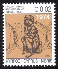 Cyprus Refugee Fund (Cyprus postage stamp) issued 30 January 2013. Price £0.15 plus postage costs.