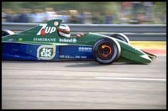 Michael Schumacher in a Jordan-Ford at the 1991 Belgian Grand Prix.