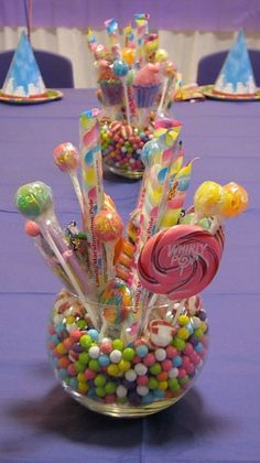 It's all about the Candy at your Candyland Party! Find creative ideas and unique tips to make your Candyland party a sweet success! Unicorn Birthday, Unicorn Party, Candy Land Theme, Candy Centerpieces, Candy Table Decorations, Birthday Decorations, Candy Party, Candyland, 1st Birthday Parties