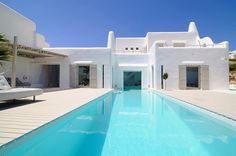 Do you dip your feet in the #pool or dive right in? www.digiwriting.com Summer house in Paros cyclades Greece