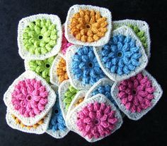 Gorgeous crocheted squares