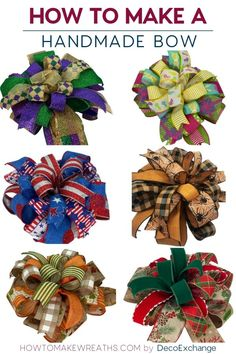 This quick tutorial will show you how to make a handmade bow for wreaths. - - This quick tutorial will show you how to make a handmade bow for wreaths. Included is a step by step video on how to make a handmade wreath bow. Making Bows For Wreaths, Christmas Wreaths To Make, Christmas Bows, How To Make Wreaths, How To Make Bows, Christmas Crafts, Wreath Making, Winter Wreaths, Prim Christmas
