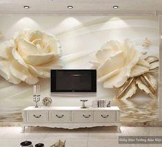 Giấy dán tường hoa 3D FL050   Giấy dán tường Bảo Việt