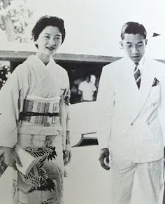 The beautiful Empress Michiko and Emperor Hirohito of Japan