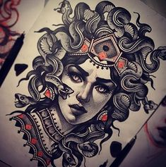 9 Beautiful and Scary Medusa Tattoo Designs
