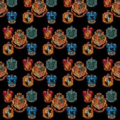 Hogwarts Houses fabric by tillyd89 on Spoonflower - custom fabric